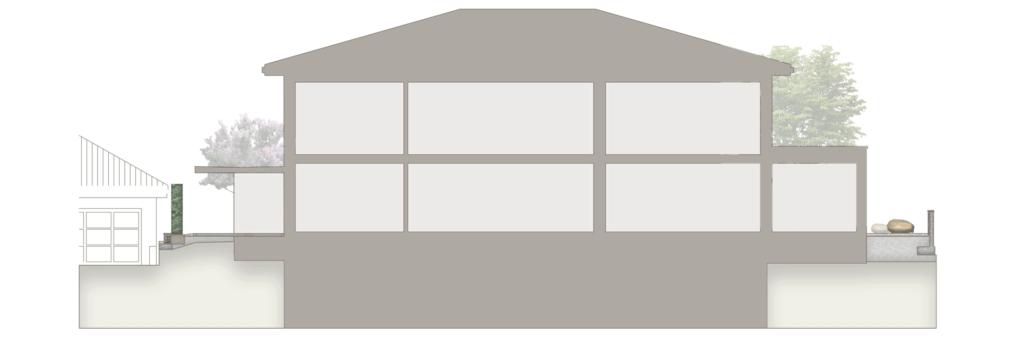 Enge Seitenkorridore neben dem Haus mit edlen Ausstattungsgegenständen