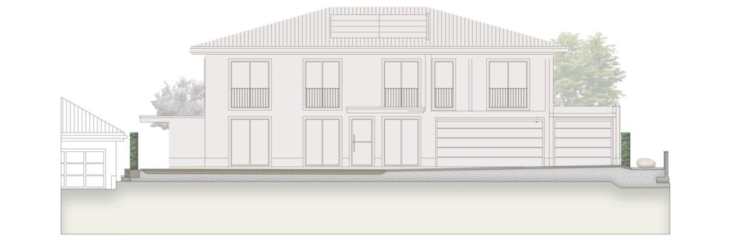 Fassadenansicht durch den Vorplatz